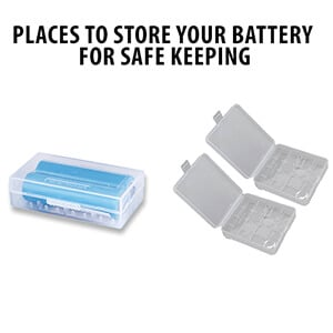 batteries stores in a case
